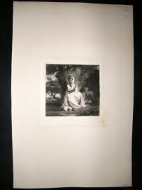 After Joshua Reynolds C1830 Folio Mezzotint. Mrs Crew, Pretty Lady